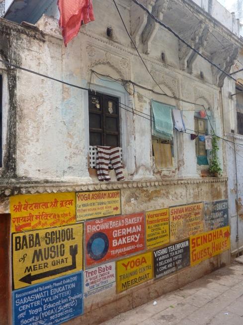 Signs in Varanasi