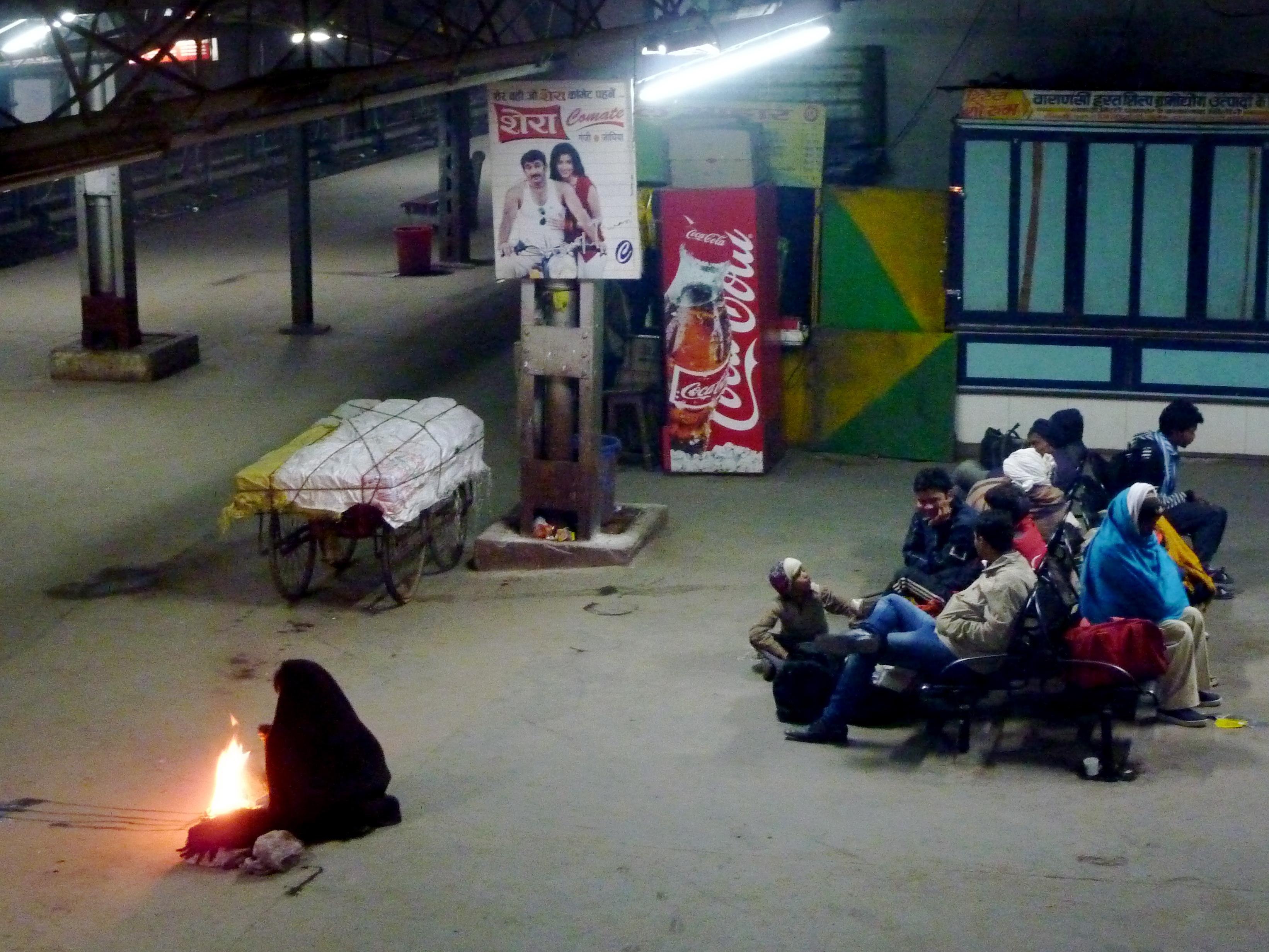 Fire in the Varanasi Train Station