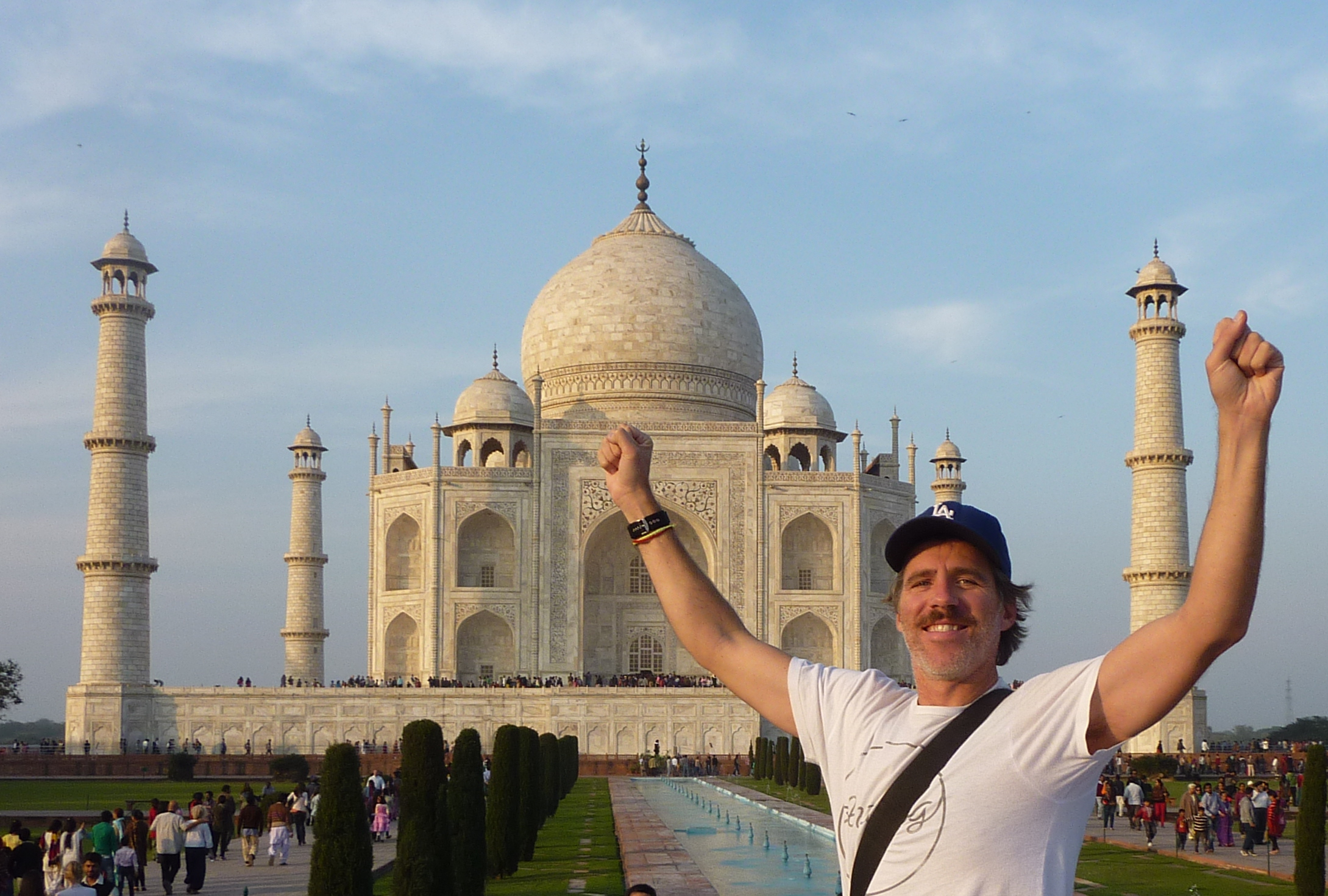 Moustached at the Taj