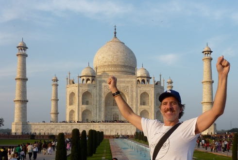 Moustached at the Taj