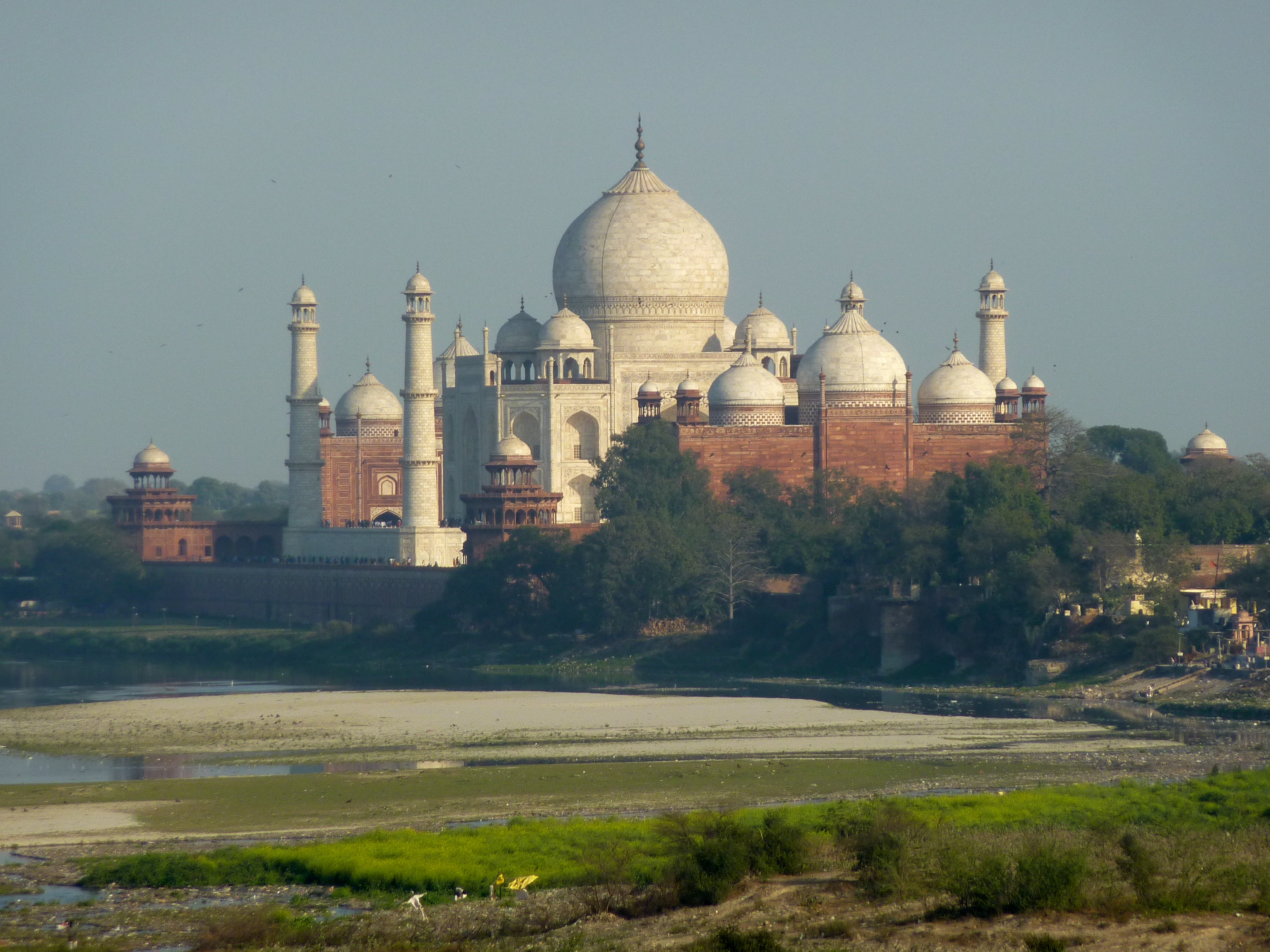 The Taj from Agra Fort