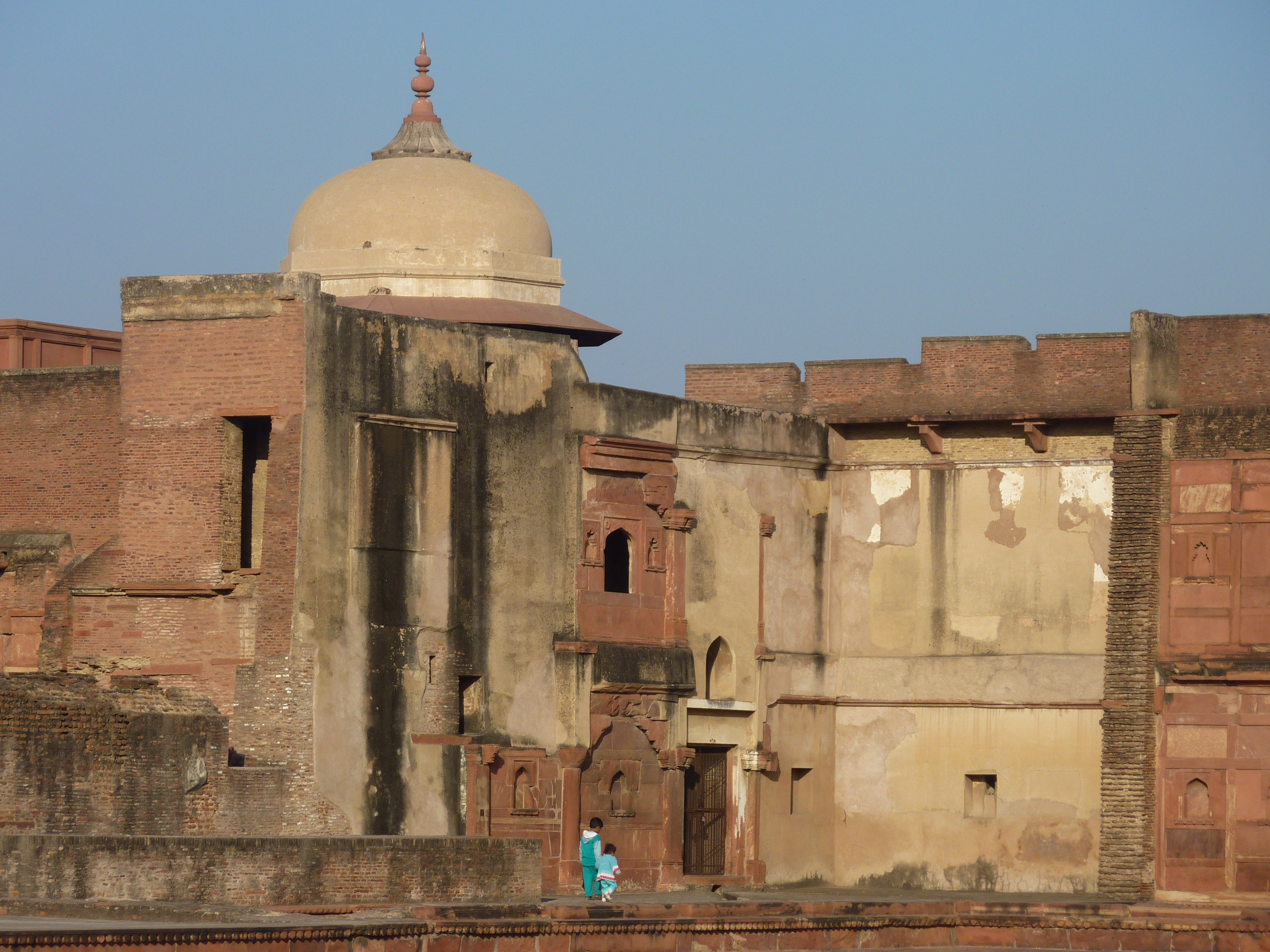 Kids at Agra Fort