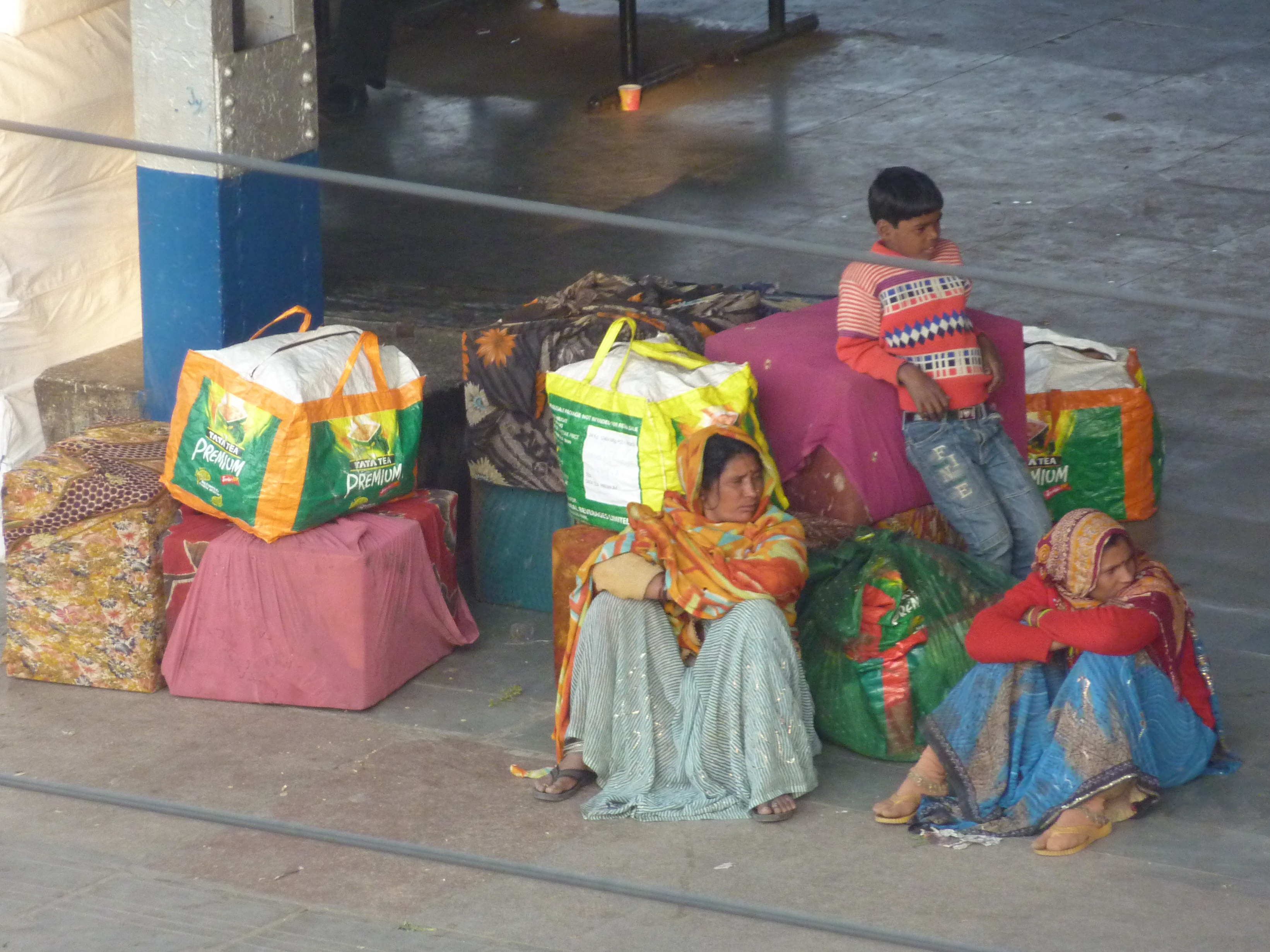 Travelers at Agra Station