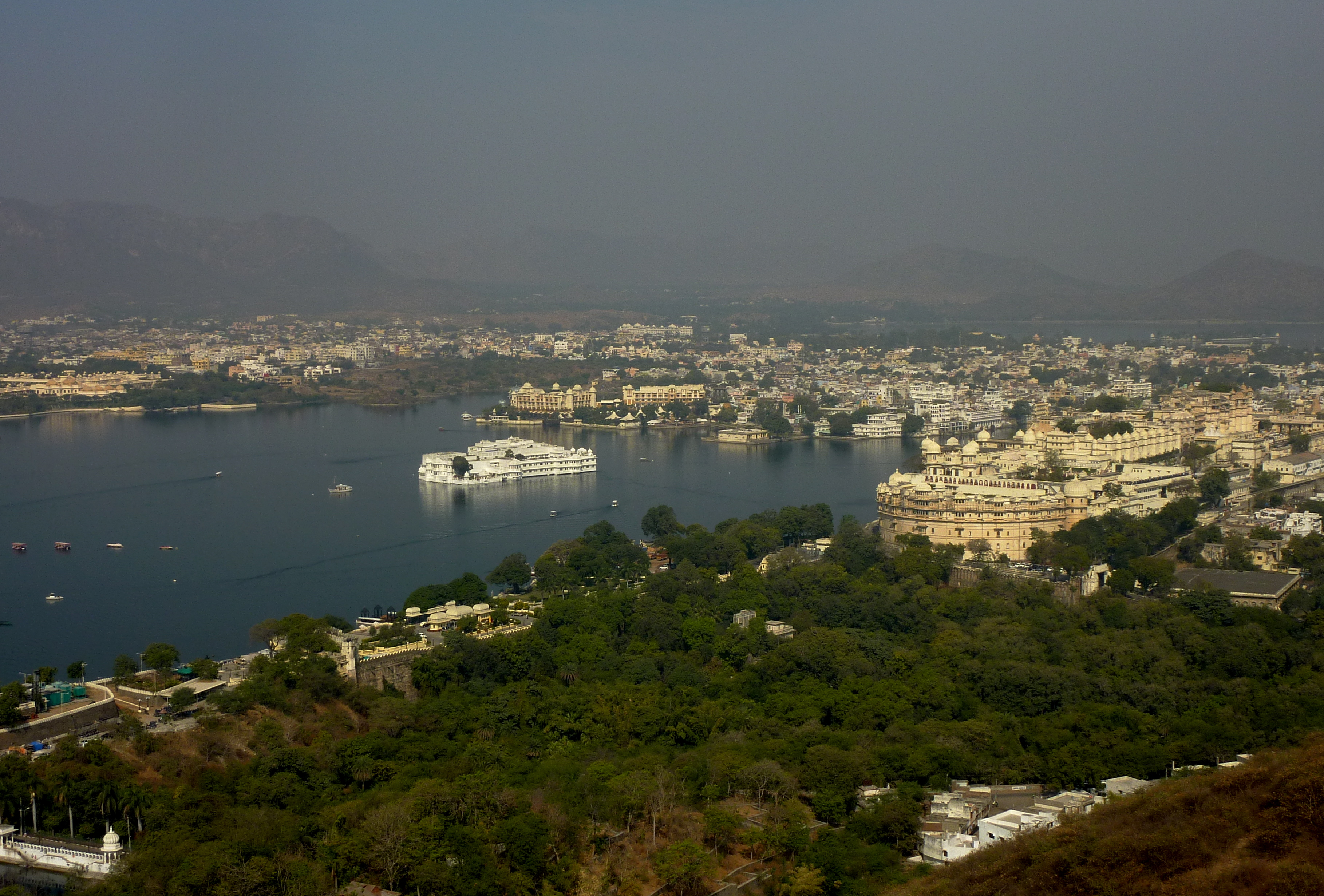 Aerial View of Udaipur